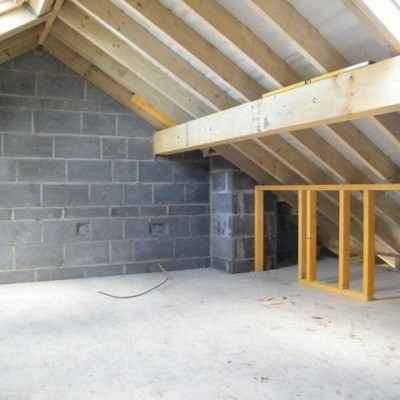 New attic conversion before plastering