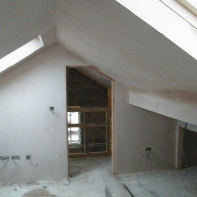 New Loft conversion. Freshly Plastered