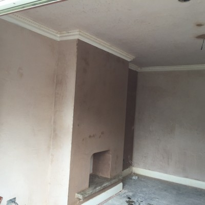 Finished photo of skimmed smooth walls ready for decoration