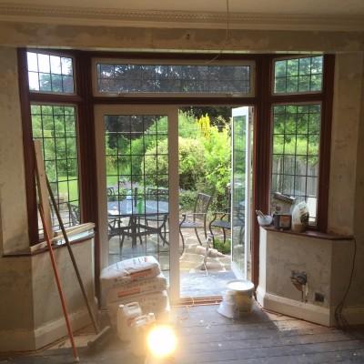 Before photo of re plaster in Tunbridge Wells