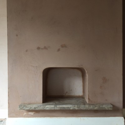 Finish photo of Fire place re plastered