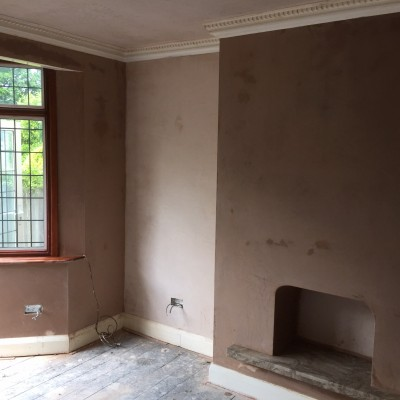 Full re skim of lounge in Tunbridge Wells