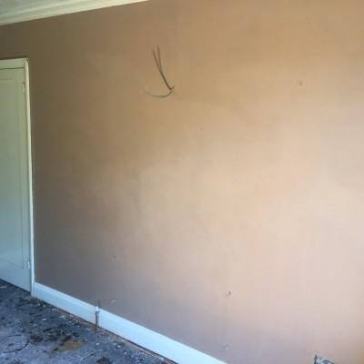 Re plaster of sitting room in Tunbridge Wells