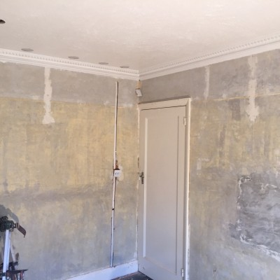 Artex ceiling and walls in need of replastering