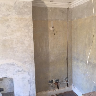 Newly Re-wired ready for plastering