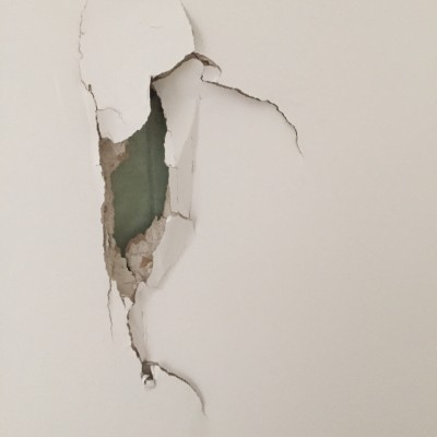Plaster damage to be repaired