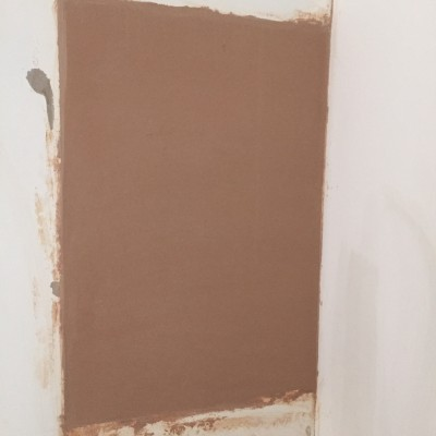 New plasterboard and reskim, Ready for paint