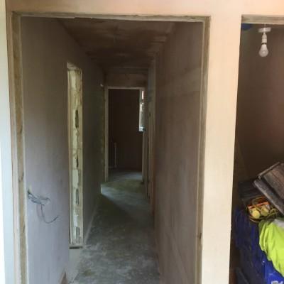 Plastering hallway at Tudor court Tunbridge Wells