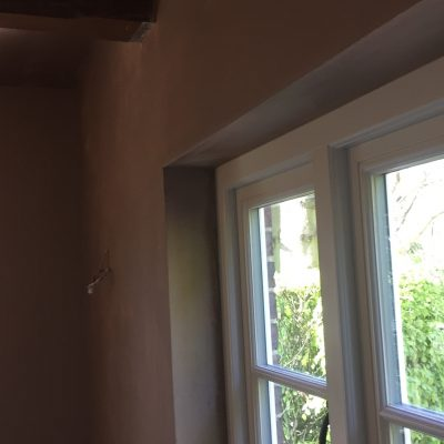 Plastering after window fitted, Mayfield