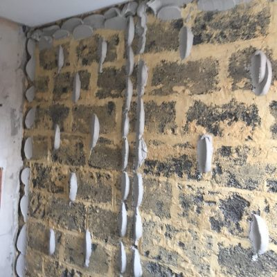 Old walls to be dot and dabbed