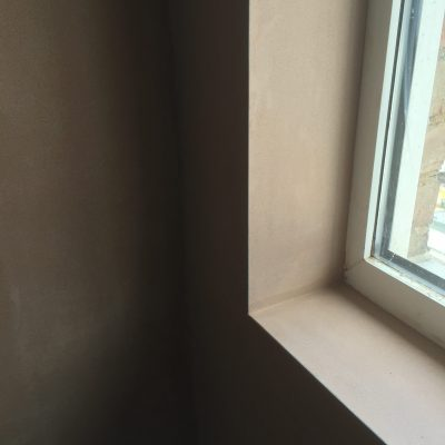 New plaster around window