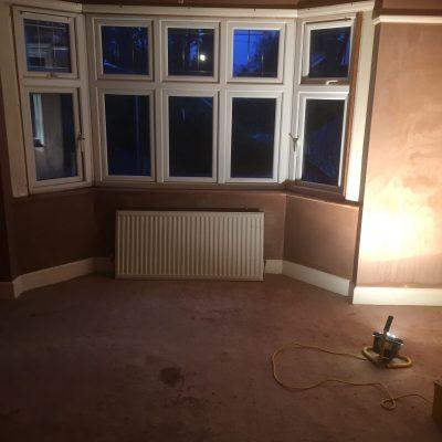 Bay window Plaster complete