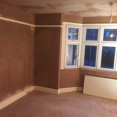 Replaster to walls and ceiling