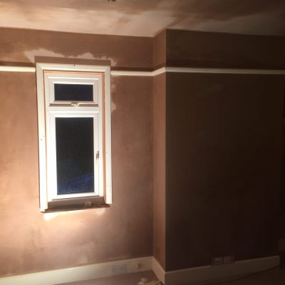 New plaster from recent job